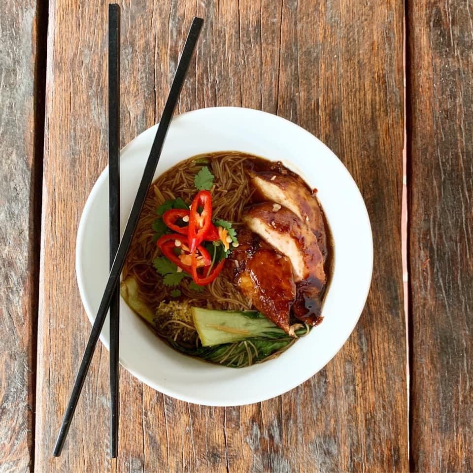 Szechuan pork made with chicken