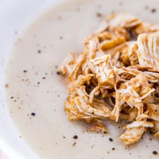 Creamy Cauliflower and Chicken Soup Thermomix Recipe