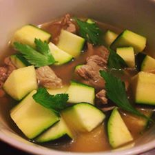skinnymixer's Beef & Zucchini Broth Soup