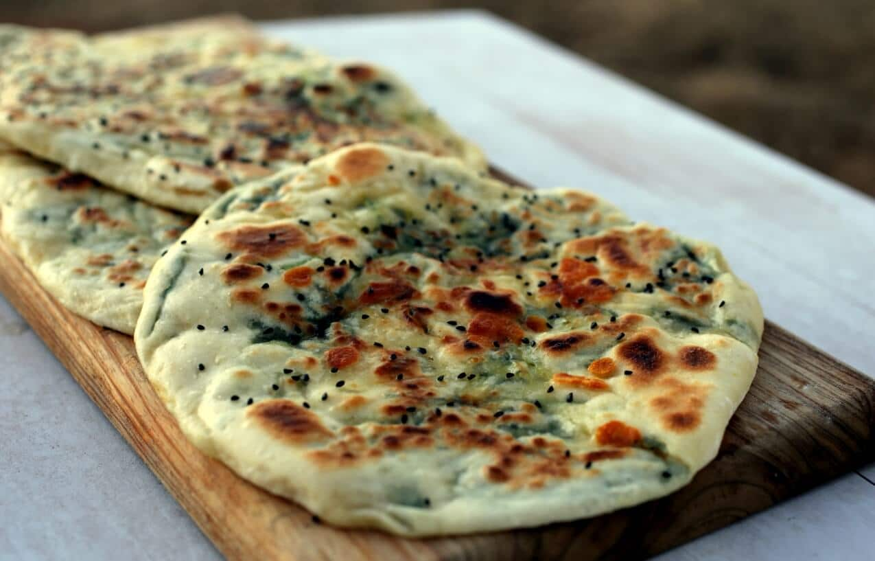 Guest Recipe: Lailah's Garlic, Cheese & Spinach Naan