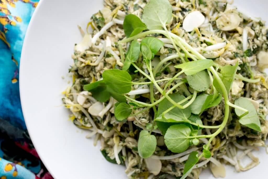 skinnymixer's Asian Herb Salad - skinnymixers