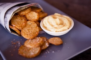 skinnymixer's Aioli and chipotle chips