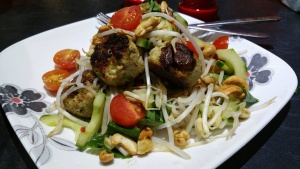 Thai Green Chicken Meatballs - Thank you Kerry Ferguson for the ideas and photo!
