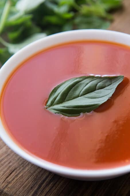 Thermomix no fat tomato soup