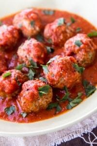 Thermomix Italian Meatballs
