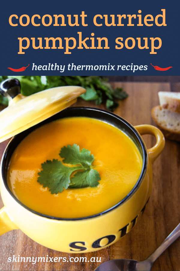 coconut curried pumpkin soup thermomix recipe by skinnymixers