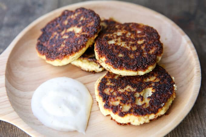skinnymixer's Low Carb Cauliflower & Haloumi Fritters