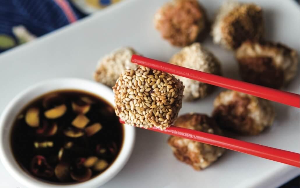 skinnymixers Gyoza meatballs