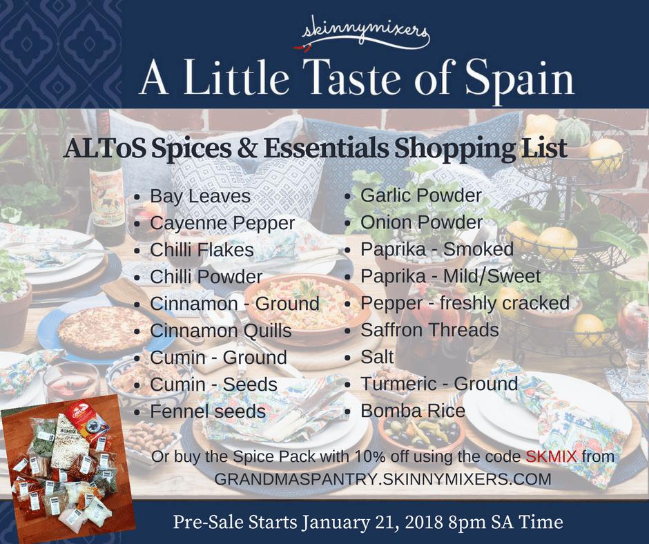 Buy the ingredients in spanish