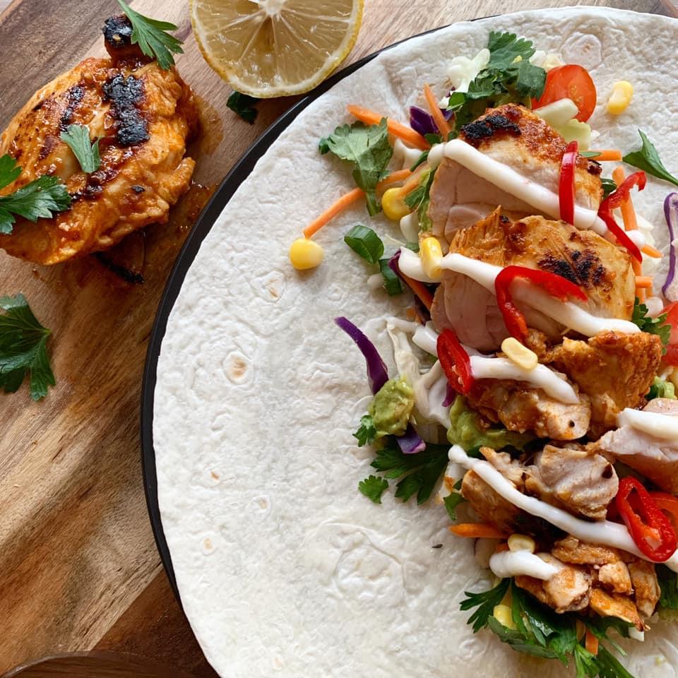 Peri Peri Chicken Wraps