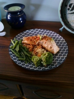 all in one salmon thermomix dinner