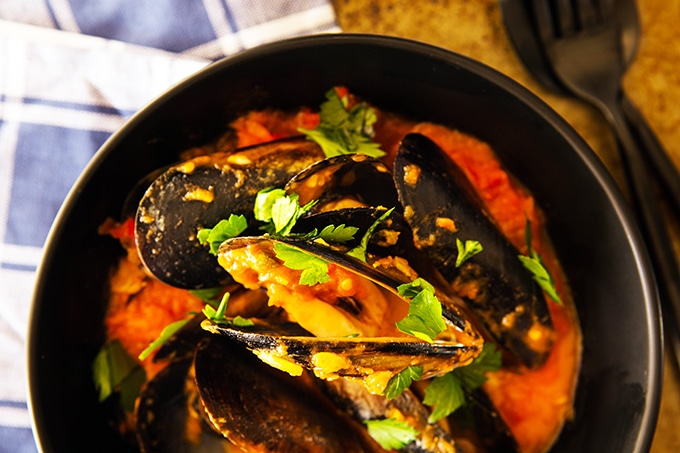 skinnymixer's Chilli Mussels