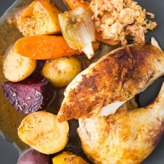 Thermomix Roast chicken stuffing gravy