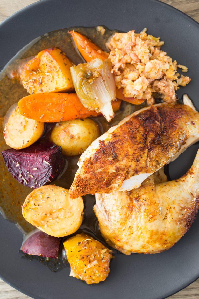 Thermomix Roast chicken stuffing gravy