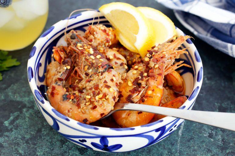dairy free garlic prawns thermomix