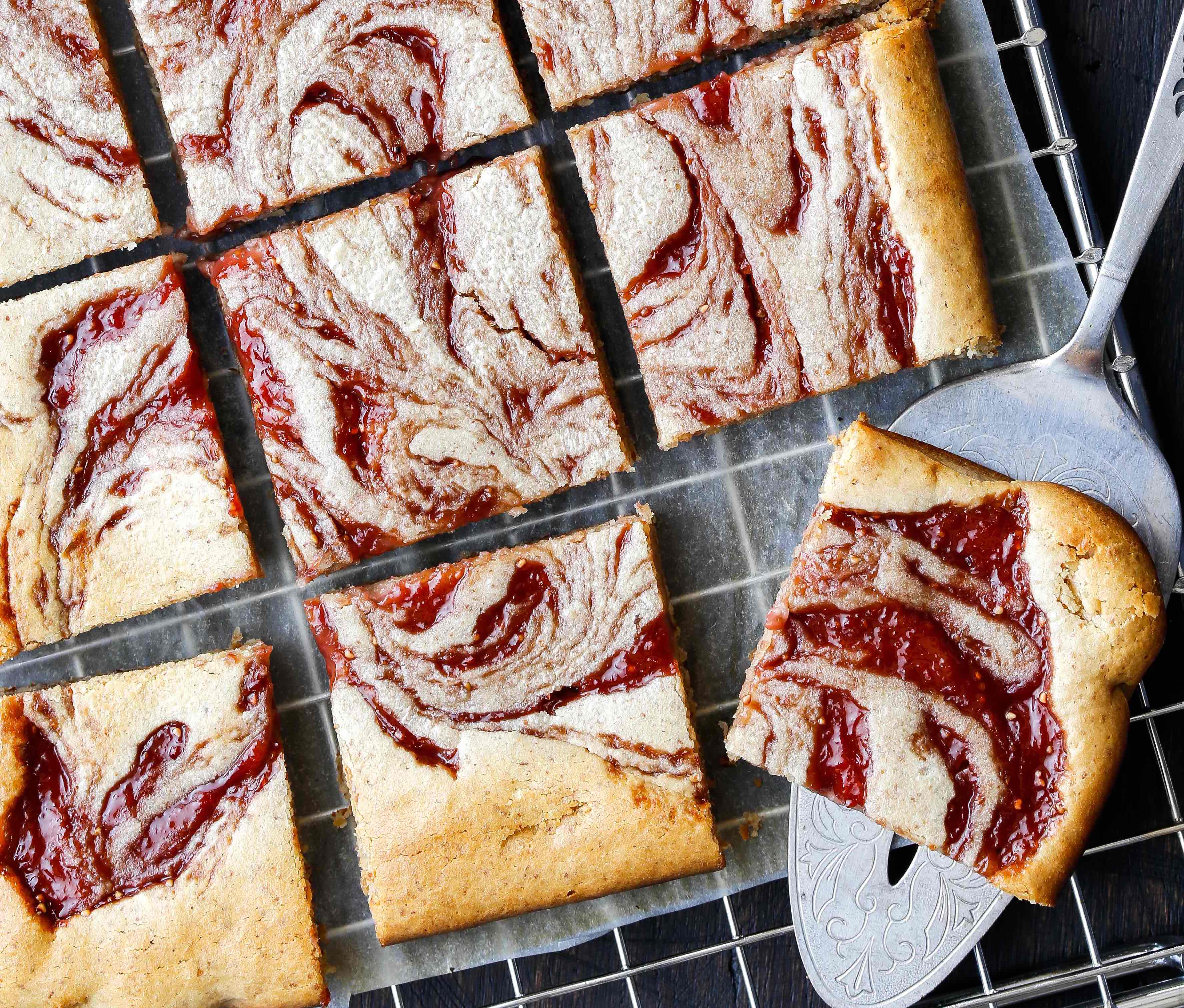 Peanut Butter Jelly slice Thermomix recipe
