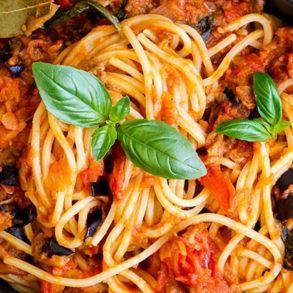 Eggplant Sugo Pasta Thermomix Recipe
