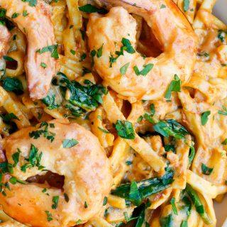 Skinnymixers prawn pasta