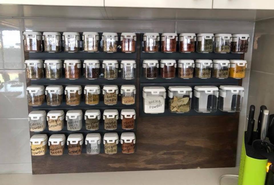 Spice Storage in the kitchen