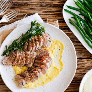 Pork Fillet Dinner with Bearnaise Sauce