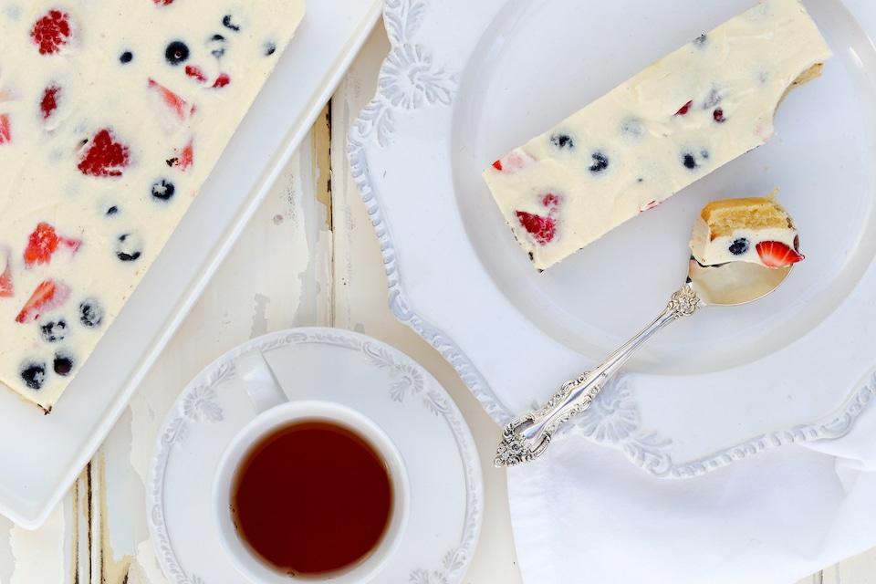 Ricotta Berry Slice Thermomix Recipe