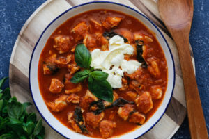 Caprese Chicken Stew