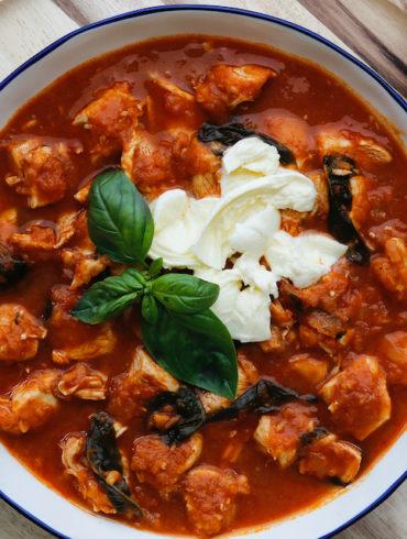 Caprese Chicken Stew