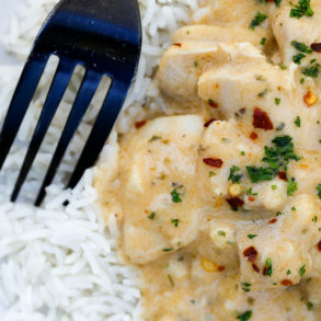 creamy garlic chicken thermomix recipe