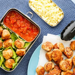 Mexican Chicken Meatballs Chunky Salsa Thermomix