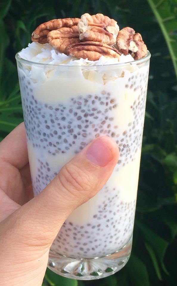 Coconut Chia Pudding Parfait