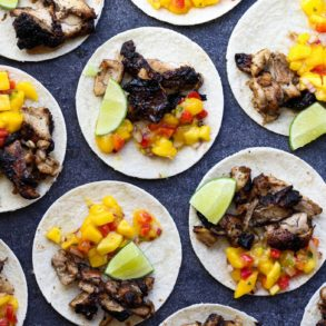 Mango Salsa Jerk Chicken