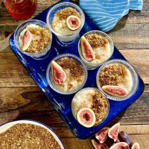 Baklava Crumb with Greek Rice Pudding