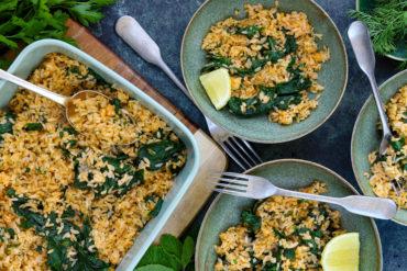 Skinnymixers Greek Spinach Rice