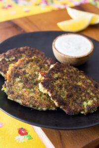Bacon Broccoli Fritters with Ranch