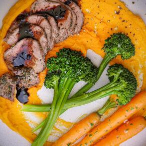 Balsamic Glaze Lamb Dinner