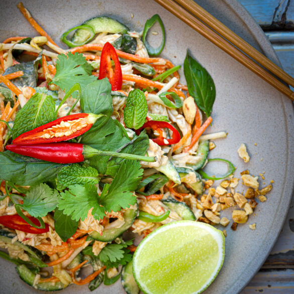 Thai Coconut Chicken Salad Thermomix Skinnymixers