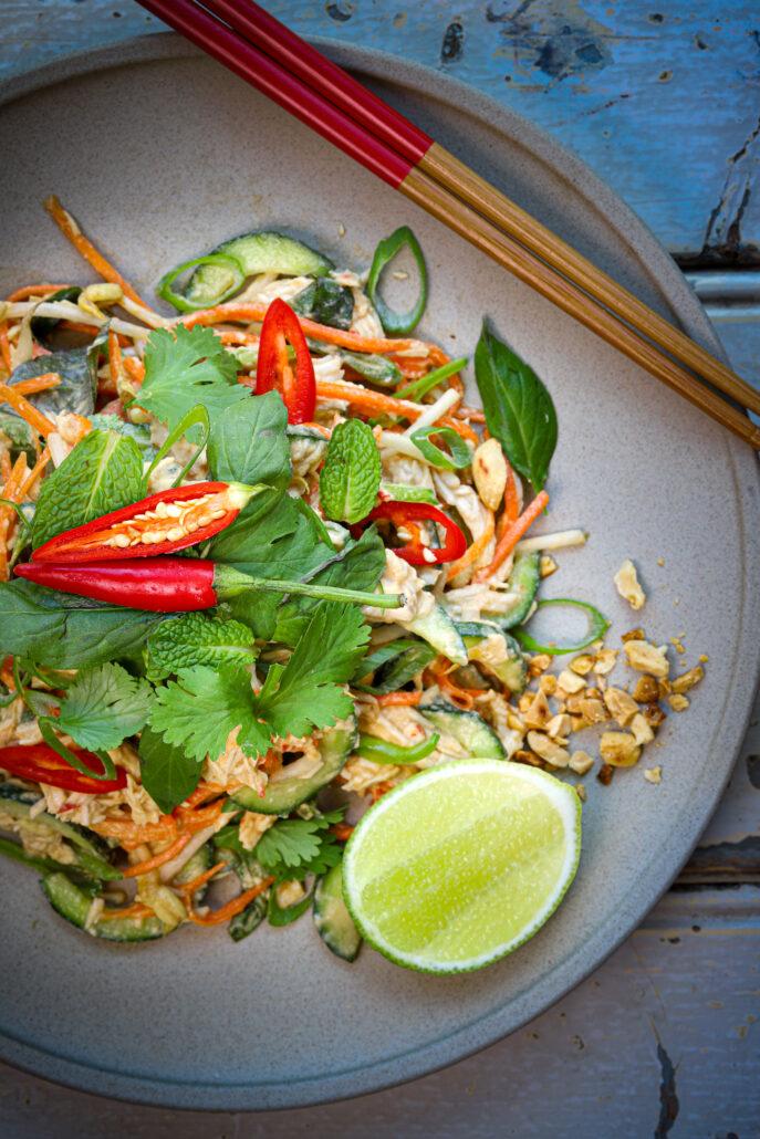 Thai Coconut Chicken Salad Thermomix Skinnymixers