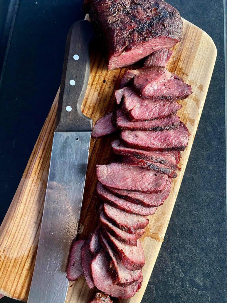Traeger reverse seared steak